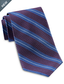 Robert Talbott Abstract Textured Stripe Silk Tie