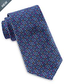 Robert Talbott Best of Class Rectangular Geo Neat Silk Tie