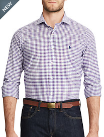 Polo Ralph Lauren® Classic Fit Plaid Stretch Poplin Sport Shirt