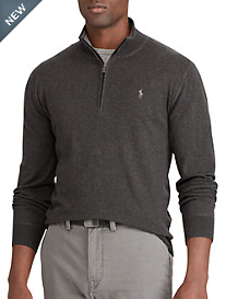 Polo Ralph Lauren® Cotton ½-Zip Sweater