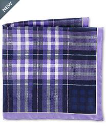 Rochester Medium Plaid Silk Pocket Square