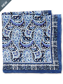 Rochester Large Paisley Silk Pocket Square
