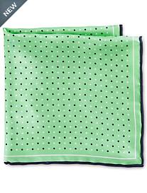 Rochester Small Dot Silk Pocket Square