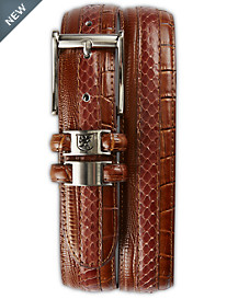 Stacy Adams® Exotic Embossed Leather Belt