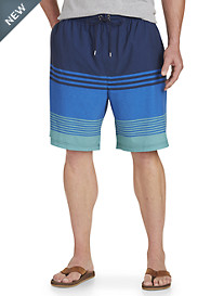 Rochester Ombré Colorblock Stripe Swim Trunks