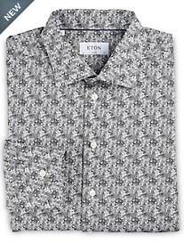 Eton® Abstract Zebra Print Dress Shirt