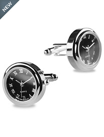 Link Up Gunmetal Working Watch Cuff Links