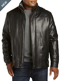 Remy Lambskin Jacket with Shearling Collar