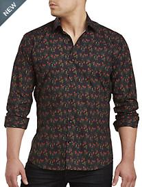 Jared Lang Strawberry Print Sport Shirt