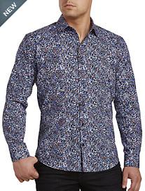 Jared Lang Multi Geometric Print Sport Shirt