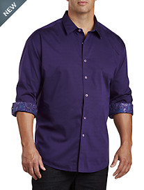 Robert Graham® DXL Jacquard Patterned Sport Shirt
