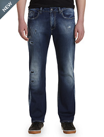 Buffalo David Bitton® Destructed Stretch Denim Jeans – Medium Wash
