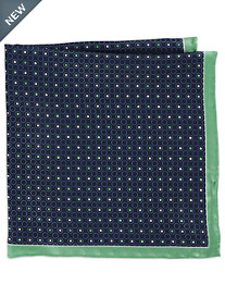 Rochester Two-Tone Dot Silk Pocket Square