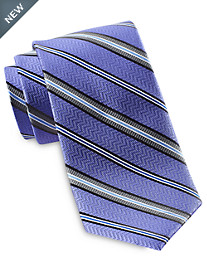 Rochester Variable Stripe Silk Tie