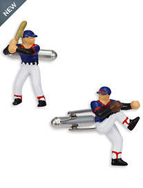 Link Up Baseball Player Cuff Links