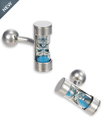 Link Up Working Sand Timer Cuff Links