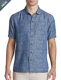 Tommy Bahama® Block Party Palms Sport Shirt