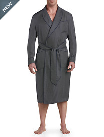Paul Stuart Shawl-Collar Mini Geo Print Silk Robe