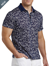 Paul & Shark® Floral Printed Polo