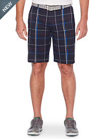 Callaway® Plaid Flat-Front Active Shorts