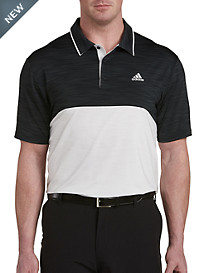 adidas® Golf Ultimate Heather Colorblock Polo