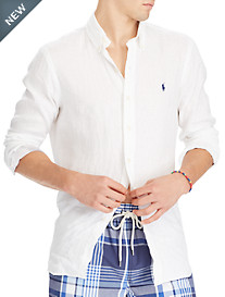 Polo Ralph Lauren® Classic Fit Solid Linen Sport Shirt