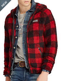 Polo Ralph Lauren® Buffalo Plaid Fleece Full-Zip Hoodie