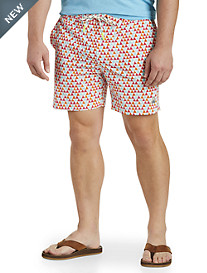 Psycho Bunny® Triangle-Print Swim Trunks