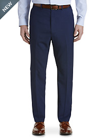 Ralph by Ralph Lauren Comfort Flex Mini Check Flat-Front Suit Pants