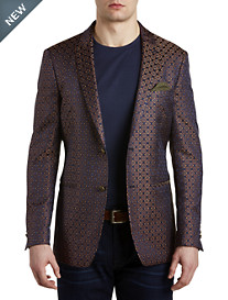 Tallia Orange Medallion Sport Coat