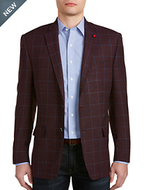 TailoRED Windowpane Plaid Sport Coat