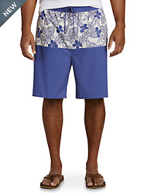 Rochester Floral Colorblock Swim Trunks