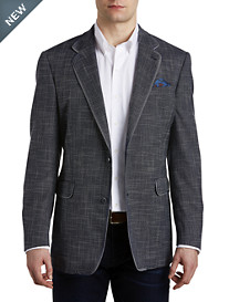 Tallia Orange Textured Solid Sport Coat