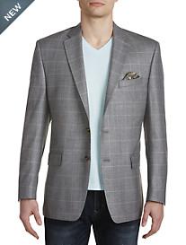 Ralph by Ralph Lauren Comfort Flex Windowpane Silk/Wool Sport Coat