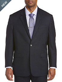Geoffrey Beene Check Grid Suit Jacket