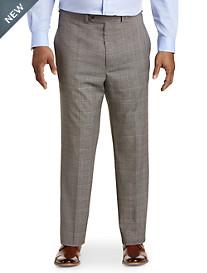 Geoffrey Beene® Flat-Front Plaid Suit Pants