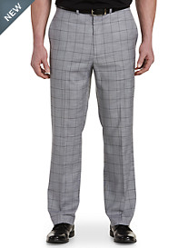 Geoffrey Beene® Textured Windowpane Flat-Front Suit Pants