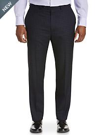 Geoffrey Beene® Check Grid Flat-Front Suit Pants