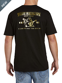True Religion® Metallic Gold Buddha Tee