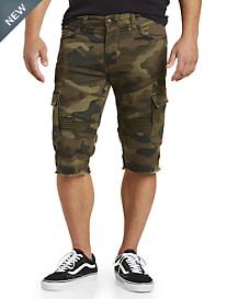 True Religion® Camo-Print Moto Cargo Shorts