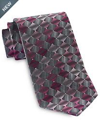 Geoffrey Beene® Repeating Diamond Geometric Tie