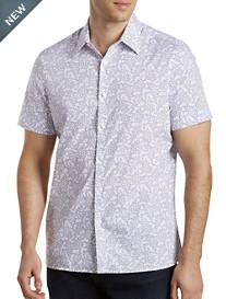 Perry Ellis® Floral Slub Stretch Sport Shirt
