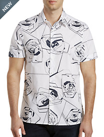 Perry Ellis® Large Rose Stretch Sport Shirt