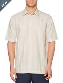 Cubavera® Natural Linen-Blend Panel Sport Shirt