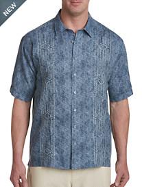 Cubavera® Textured Panel Sport Shirt