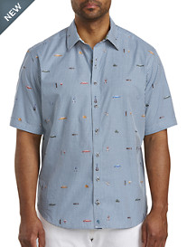 Robert Graham® DXL Embroidered Gingham Sport Shirt
