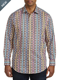 Robert Graham® DXL Multi Geo Stripe Sport Shirt