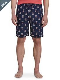 Psycho Bunny® Logo-Print Woven Jam Shorts