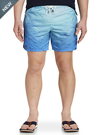 Paul & Shark® Shark Print Swim Trunks