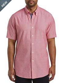 Nautica® Diamond Dobby-Pattern Sport Shirt